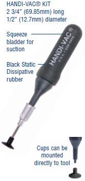 4 Tips HV-KIT Virtual Industries Handi-Vac Vacuum Handling Tool Squeeze Bulb
